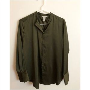 H&M blouse. It has a nice soft feel to it.